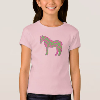 Pink and Green Paisley Pony Shirt