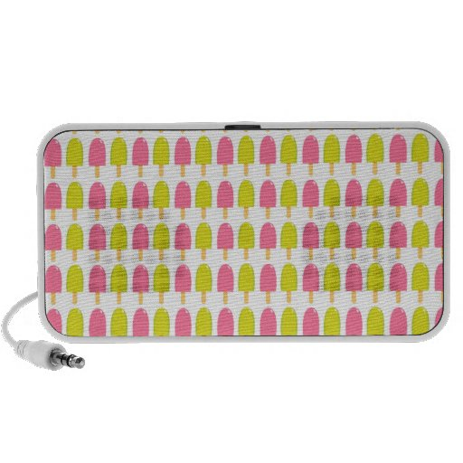 Pink and Green Retro Popsicles Laptop Speaker