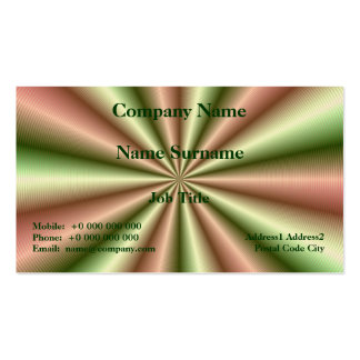 Pink and Green Ribbed Pleat Business Card