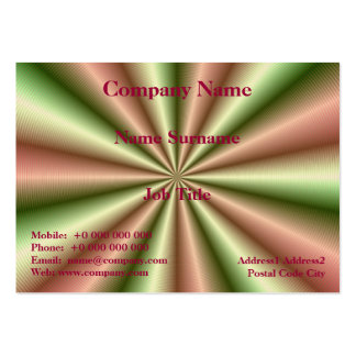 Pink and Green Ribbed Pleat Chubby Business Card