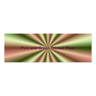 Pink and Green Ribbed Pleat Skinny Business Card
