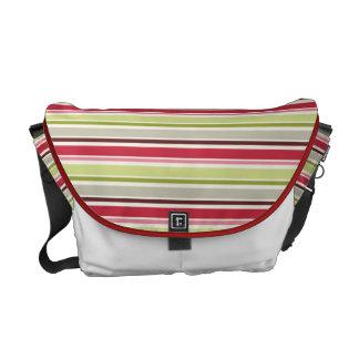 Pink and green stripes Rickshaw messenger bag