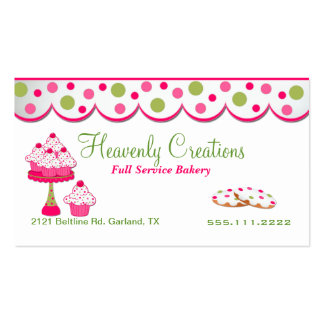 Pink and Green Sweets Bakery Business Card