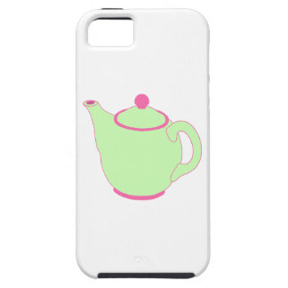 Pink and Green Teapot iPhone 5 Case