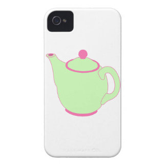 Pink and Green Teapot Case-Mate iPhone 4 Cases