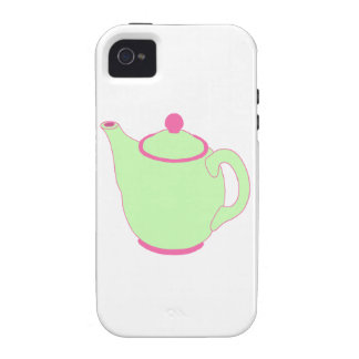 Pink and Green Teapot iPhone 4/4S Cover