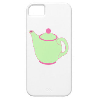 Pink and Green Teapot iPhone 5/5S Covers