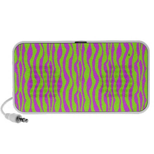 Pink and Green Zebra Print Notebook Speakers