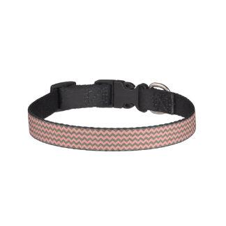 Pink and Grey Chevron Dog Collar