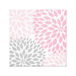 Pink and Grey Dahlia Square Wall Art