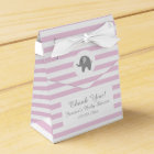 Pink and grey elephant baby shower party favour favour box
