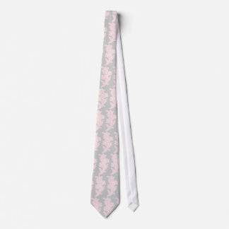 Pink and Grey Floral Tie
