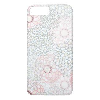 Pink and Grey Flower Burst Design iPhone 7 Plus Case