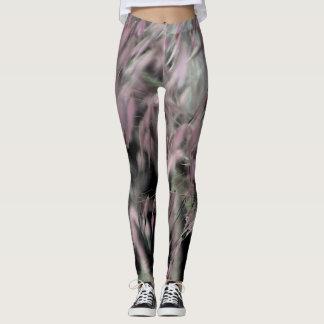 Pink and Grey Grasses Leggings