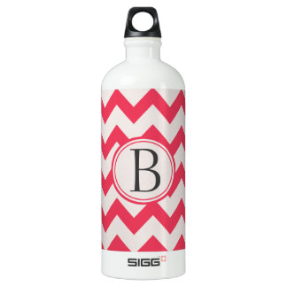 Pink and Grey/Grey Chevron Zig Zag Pattern Initial SIGG Traveller 1.0L Water Bottle