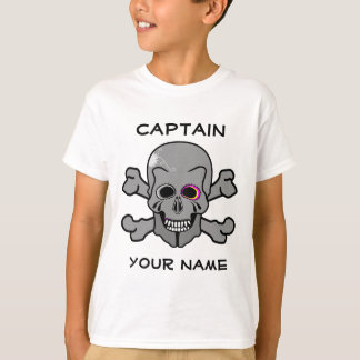 Pink and grey jolly roger T-Shirt