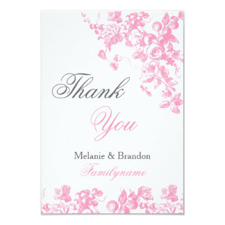 Pink and grey wedding thank you cards Wedding set