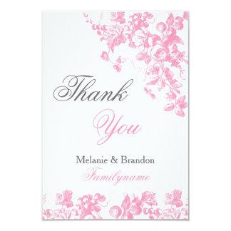 Pink and grey wedding thank you cards Wedding set 9 Cm X 13 Cm Invitation Card