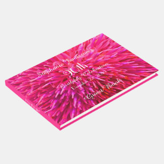Pink and Hot Pink Birthday Party Memory/Guest Book