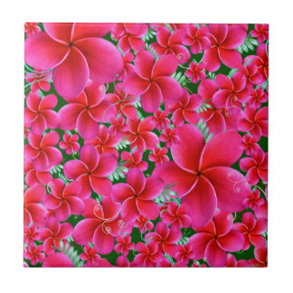 Pink and Intense Flowers, Wife Birthday Tiles