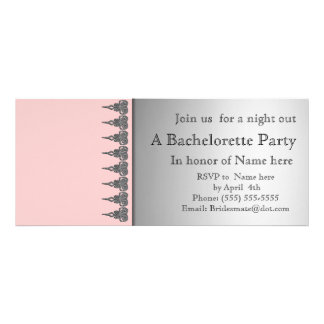 Pink and lace bachelorette party invitation