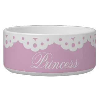 Pink and Lace Pet Bowl