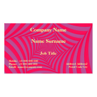 Pink and Lilac Spiral Card Pack Of Standard Business Cards