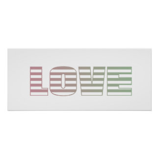 Pink and Lime Love Stripes Print