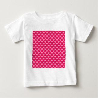Pink and Magenta Heart Pattern T Shirts