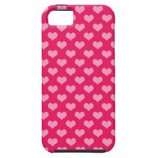 Pink and Magenta Heart Pattern Tough iPhone 5 Case