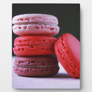 Pink and Magenta Stack of French Macaron Cookies Plaques