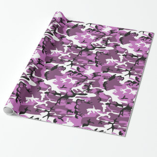 Pink and Mauve Camo Wrapping Paper