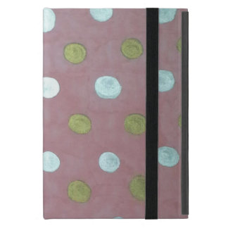 Pink and Metallic Polka Dot Case for iPad