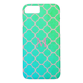 Pink And Mint Abstract Art phone case