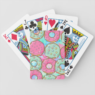 PINK AND MINT COOKIES DONUT SPRINKLE CRUSH BICYCLE PLAYING CARDS