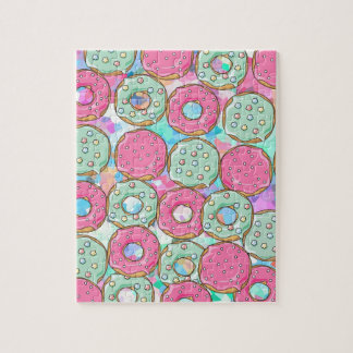 PINK AND MINT COOKIES DONUT SPRINKLE CRUSH JIGSAW PUZZLE