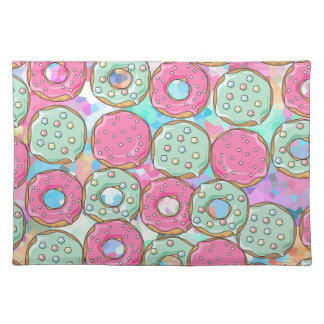 PINK AND MINT COOKIES DONUT SPRINKLE CRUSH PLACEMAT