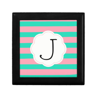 Pink and Mint Stripes Gift Box