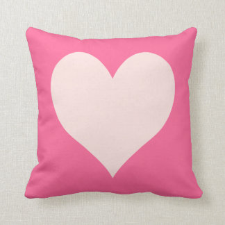 Pink and Misty Rose Heart Cushion