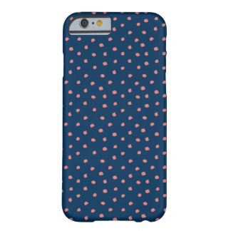 Pink and Navy Messy Polka Dot iPhone Case