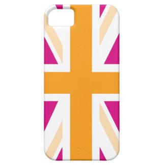 Pink and Orange British Flag iPhone 5 Case