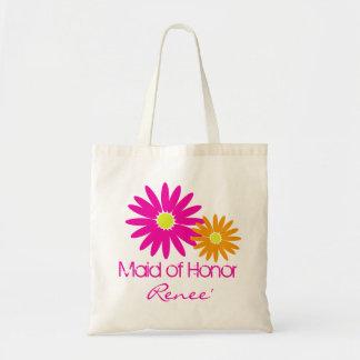 Pink and Orange Daisies Budget Tote Bag
