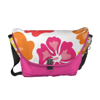 Pink and Orange Floral Messenger Bag
