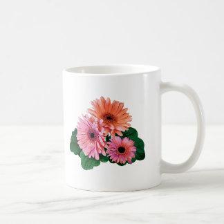 Pink and Orange Gerbera Daisies Mugs