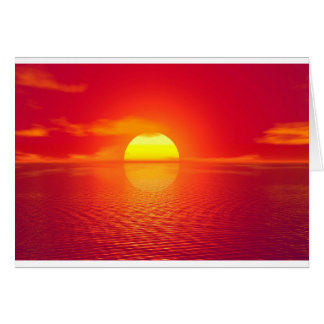 Pink and Orange Indian Ocean Sunset Card