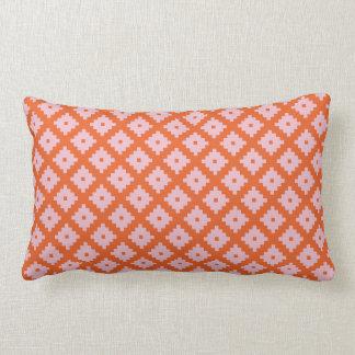Pink and Orange Kilim Lumbar Cushion