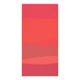 Pink and Orange Minimalism Personalized Photo Card