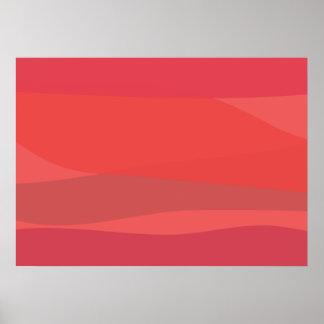 Pink and Orange Minimalism Poster