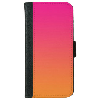"""Pink And Orange Ombre"" iPhone 6 Wallet Case"