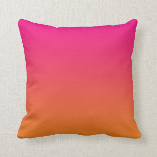 """Pink And Orange Ombre"" Throw Pillow"